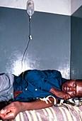 Man suffering from sleeping sickness
