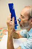 Collecting breath condensation
