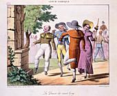 Lithograph,'La Danse de Saint Guy'