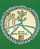 Artwork of Adam and Eve in the Garden of Eden