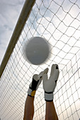 Goalkeeper's hands