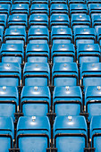 Seats in a sports arena