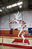 Gymnast swinging