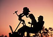 Amateur astronomers with Meade 2080 20cm telescope