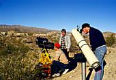 Portrait of amateur astronomers & their telescopes