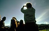 Amateur astronomers at a solar eclipse