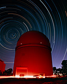 Time-lapse image of the Anglo-Australian Telescope