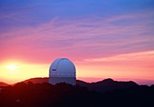 Sunset behind the Anglo-Australian Telescope
