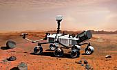 Mars Science Laboratory rover,artwork