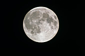 Full moon through amateur telescope