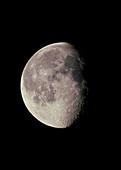 Optical image of a waning gibbous moon