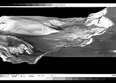 View of landslides in the Valles Marineris,Mars