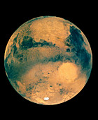 Mosaic of images showing Mars southern hemisphere