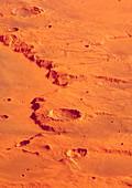 Martian erosion features