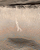Possible water on Mars,satellite image