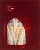 Pioneer 10 TV scan of part of Jupiter