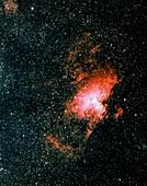 Optical image of the Eagle nebula M16