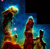 Gas pillars in Eagle Nebula