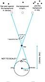 Parallax measurement of distance
