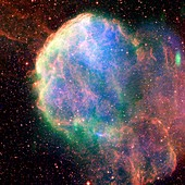Supernova remnant IC 443,composite image