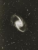 Optical image of Seyfert galaxy NGC 1365