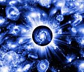 Active galaxy,conceptual artwork
