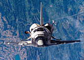 Discovery docking with ISS,STS-114