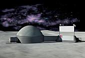 Moon base,artwork