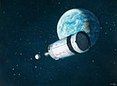 Apollo mission space debris