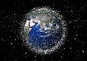 Space debris,artwork