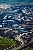Opencast mine,Athabasca Oil Sands