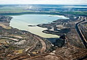 Settling pond,Athabasca Oil Sands