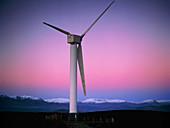View of a wind turbine in Cumbria,England