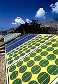 Solar panels used to charge railway batteries