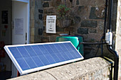 Solar panel at the ECO Centre,Wales
