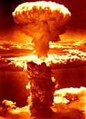 Atomic burst over Nagasaki,1945