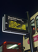 GPS bus information display