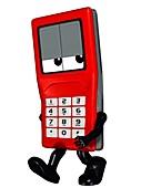 Mobile phone cartoon character