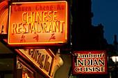Neon restaurant signs