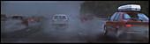 Motorway traffic in bad weather