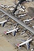 Airport terminal,aerial photograph