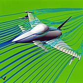 Typhoon fighter plane aerodynamics