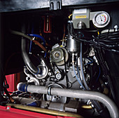 Hydrogen fuel cell bus engine