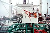 Oil tanker fire drill