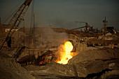 Steel works,Indiana,USA