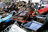 Cars at a scrap yard