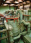 Incinerator used to burn sewage sludge