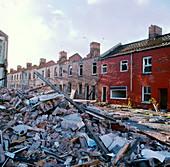 Demolishing unsafe town