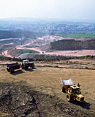 Limestone quarrying in Cumbria,UK