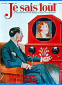 1930 magazine cover; the realisation of television